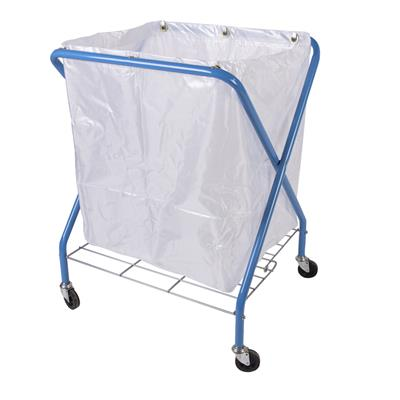 Folding Waste Cart & Translucent Vinyl Bag