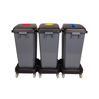 60L Recycling Dolly Bin Kit
