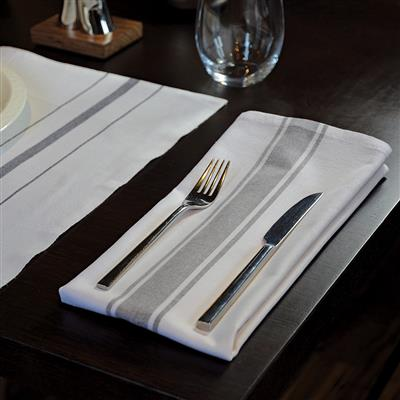 Centre Stripe Napkin Black